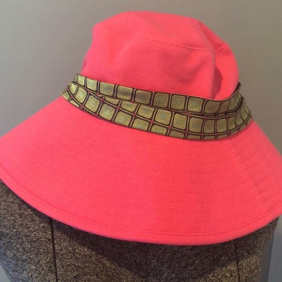 NWT Jcrew pink bucket hat - hot pink banded hat 4d07573ea67